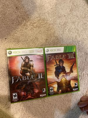 XBOX 360 games-Fable II, III (pick up $13) for Sale in Olney, MD