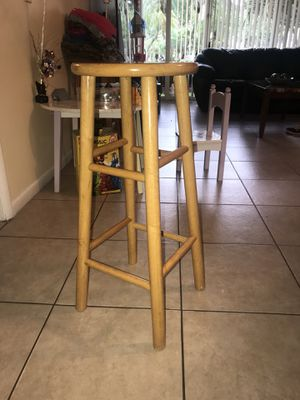 Two Bar Wooden Stools For In Pompano Beach Fl
