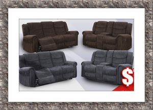 Grey or chocolate recliner set for Sale in Rockville, MD