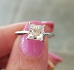 1.30 ct. Princess cut wedding ring.... size 5.75(read all description) for Sale in Riverside, CA