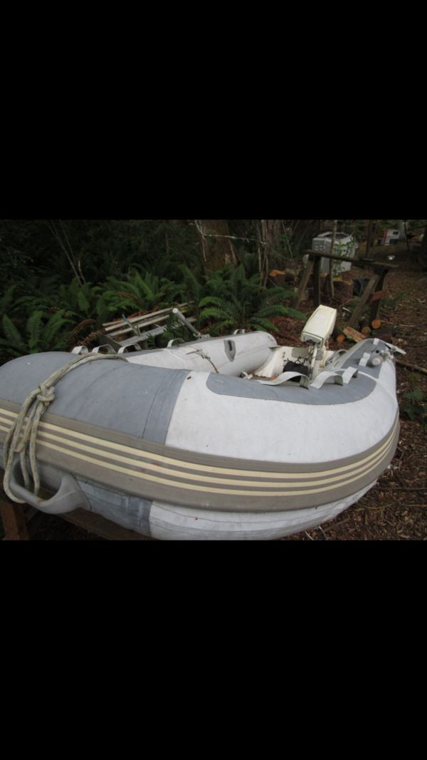 West marine inflatable boat with 15hp outboard