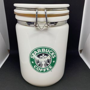 "Starbucks Beehouse 8"" White Canister Siren Storage Container Split Tail for Sale in Honolulu, HI"