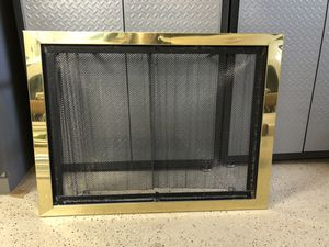 Fireplace Face Plate / Mesh Sliding Door for Sale in Woodinville, WA