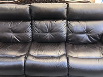 Beautiful Leather Sofa 🛋 & Leather Loveseat Electric Recliner In Great Condition Like New . Coffee Color Espresso. for Sale in Spring Valley,  CA