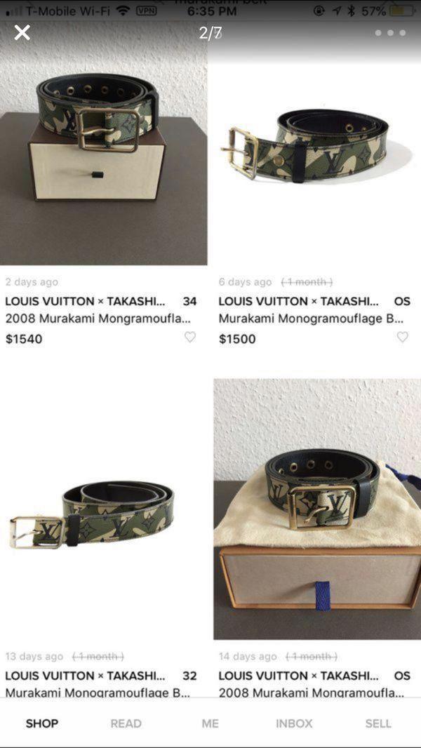 69931fd7f4d4 Louis Vuitton Takashi Murakami Monogramouflage Camo belt for Sale in ...