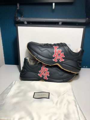 Gucci Rhyton LA Classic Logo Leather Shoes Size 9.5 for Sale in Lynwood, CA