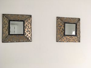 Pair of Black & Gold Decorative Mirrors for Sale in Orland Hills, IL