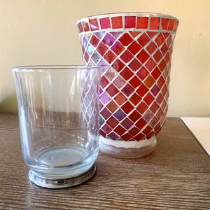 Decorative Glass Votives/Candle Holders (set of two) for Sale in West Hollywood, CA