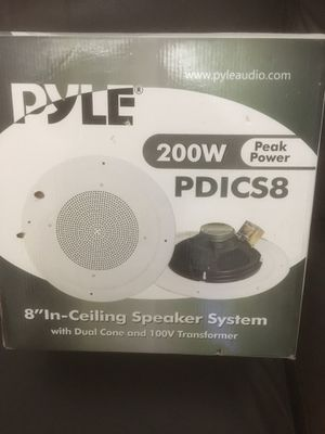 Pyle PylePro PDICS8 ceiling Speaker - 200 W PMPO for Sale in Pawtucket, RI