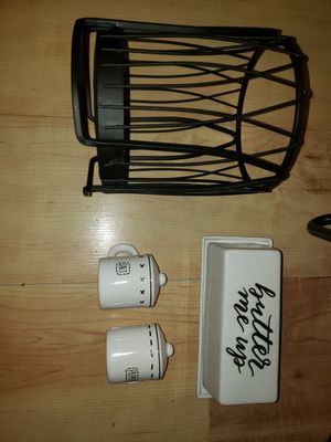 Kitchen butter,salt pepper and utensil holder for Sale in Fort Worth, TX