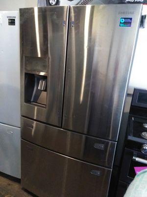 Samsung stainless steel 4 door French style door in door refrigerator for Sale in Cleveland, OH