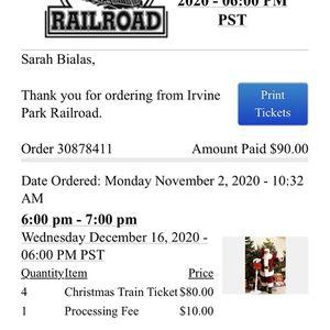 Irvine Railroad Christmas Train for Sale in Mission Viejo, CA