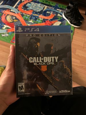 Call of duty black ops 4 pro sealed. 50$ for Sale in Lathrop, CA