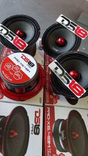 Ds18 Pro-X6.4BM 600w Loud midrange speaker and clear for voice $29 each(1)/Bocinas para la voz Ds 18 Audio $29 Cada una(1) for Sale in Houston, TX