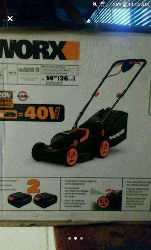Worx Rechargeable lawn mower for Sale in Washington, DC