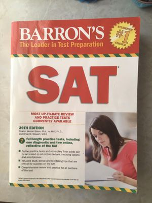 Barron's SAT 29th Edition w/ 7 full-length tests for Sale in Greer, SC