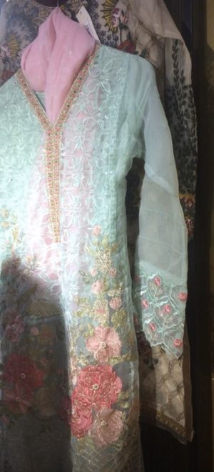 Pakistani 3 piece ladies party dress size large use only few hours for Sale in El Cerrito, CA