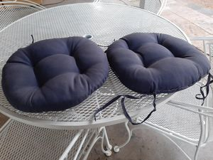 2 Navy Blue Seating Cushions [Read Description] for Sale in Phoenix, AZ