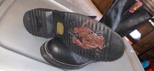 Black and burgundy oil resistant work boots for Sale in Angier, NC