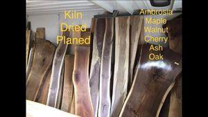 Cherry oak maple hickory pine walnut slabs for Sale in Elmira, NY