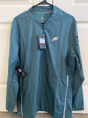 Philadelphia Eagles Nike Sideline Lockdown Quarter-Zip Jacket - Midnight Green for Sale in Selma, CA