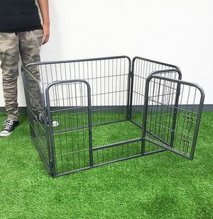 """(NEW) $55 Heavy Duty 37""""x25""""x24"""" Pet Playpen Dog Crate Kennel Exercise Cage Fence, 4-Panels Play Pen for Sale in Whittier, CA"""