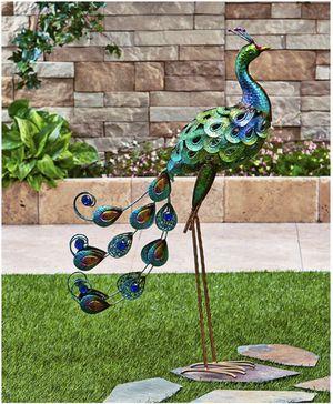 Metal Peacock Garden Decoration Backyard Decor Yard Porch Patio Deck Outdoor Indoor Metallic Bird for Sale in Fuquay Varina, NC
