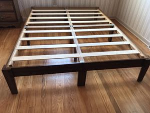 solid wood platform bed frame queen for Sale in Greencastle, PA