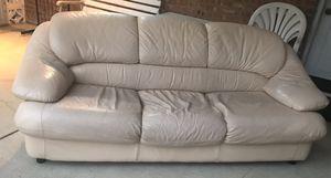 White Leather Couch for Sale in Morton Grove, IL