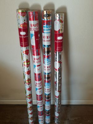 Christmas wrapping paper for Sale in South Gate, CA