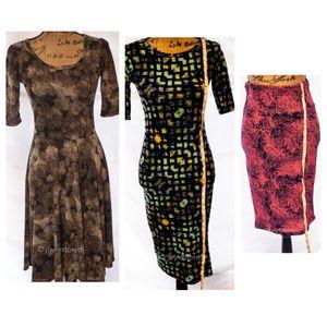 LulaRoe Dress& Skirt Bundle - 3 Popular Prints & Styles for Sale in Cranberry Township, PA