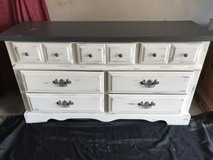 "Beautiful Distressed 7 Drawers Dresser. All Drawers work perfect. *Free Delivery Depending on Location *. VENMO OR CASH ACCEPTED!!""' 58""w-32""h-17.5 for Sale in Bakersfield, CA"