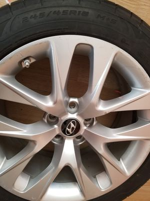 4..R18 rims with like new tires for Sale in Toms River, NJ