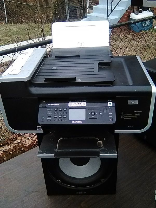 LEXMARK PROFESSIONAL X7675 all in one wireless color printer
