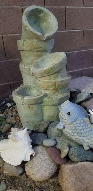 Cute Outdoor Fountain w /Pump for Sale in Las Vegas, NV