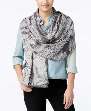 Inc International Concepts Women Tranquil Scale Jacquard Scarf Silver One Size for Sale in Norfolk, VA