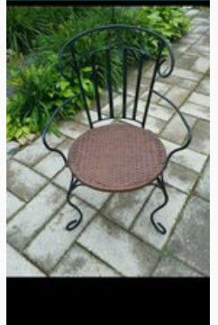 Vintage Wrought Iron chair for Sale in Springfield, MA