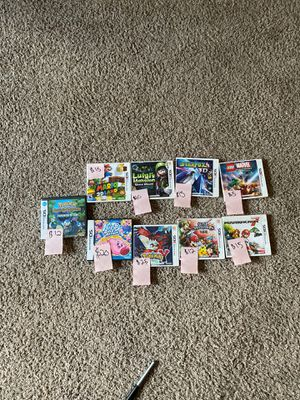 Kirby Mass Attack, Pokémon Mystery Dungeon, Mario, Luigi Mansion, Starfox, Marvel Super Herod, Pokémon Y, Super Smash Bro's, Mario Kart 7 for Sale in Garden Grove, CA