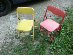 Two kids chairs 5 each for Sale in Camargo, KY