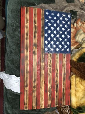 USA WOOD FLAG for Sale in Cheney, WA
