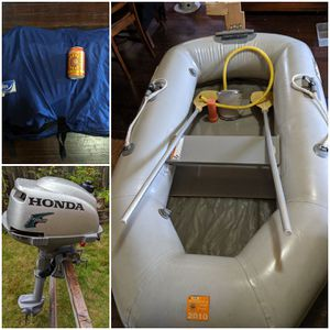 Achilles inflatable boat with Honda outboard motor for Sale in Seattle, WA