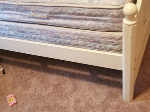 Twin mattress and foundation with white bedframe for Sale in Daphne, AL