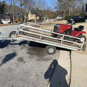 Triton Aluminum Tilt Trailer With Winch !! for Sale in Loganville, GA