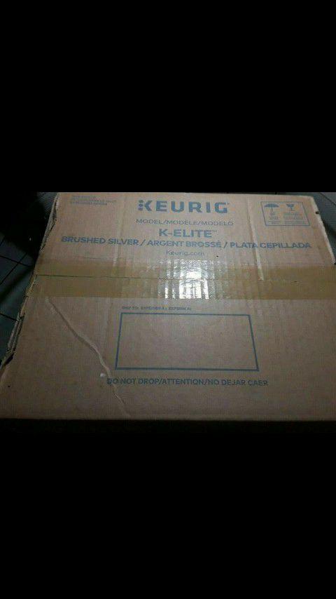 Keurig K-Elite Single Serve Coffeemaker Brushed Silver