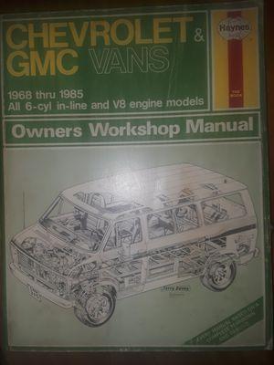 Chevy Vans 1968-85, repair manual for Sale in Concord, NC