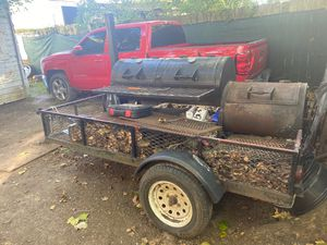 BBQ pit on trailer for Sale in Houston, TX