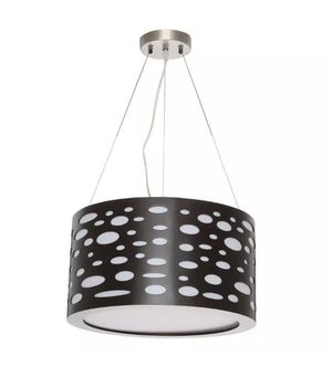 The Mokala 2-Light Brown Drum Pendant for Sale in Saint Petersburg, FL