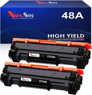 2x Black Toner for HP 48A CF248A Laserjet Pro M15w M28w M29w M30w M31w M15a M16a M28a M29a for Sale in West Covina, CA