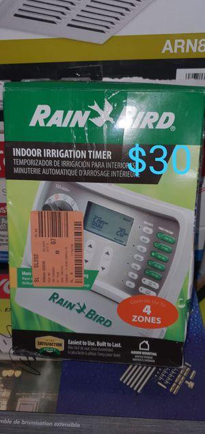 4 zone rainbird sprinkler timer indoor for Sale in Bakersfield, CA