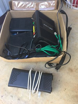Variety of modems and routers for Sale in Alto, GA